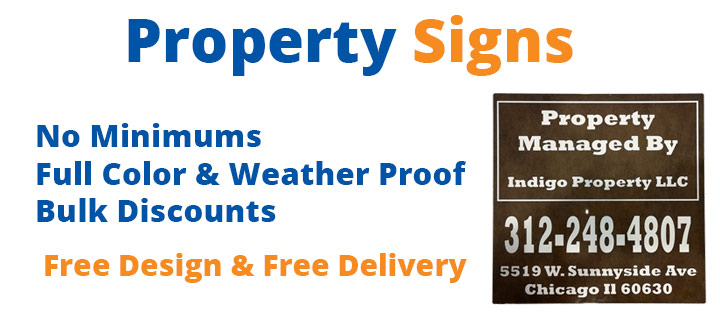 Chicago Property Signs