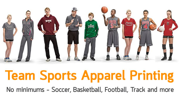Sports Team Apparel Printing
